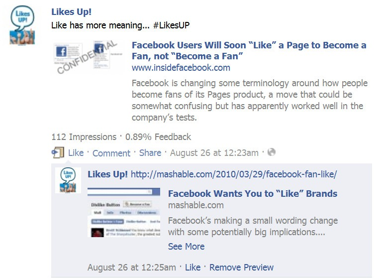 how to find the likes on facebook business page