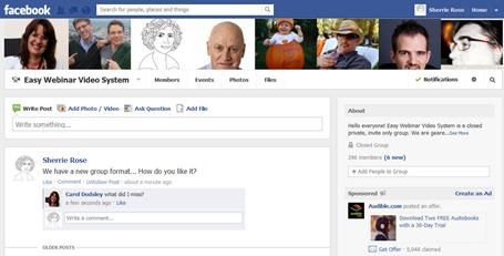 Facebook Group Webinar System
