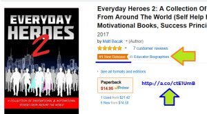 Everyday Heroes 2 book launch matt bacak sherrie rose author