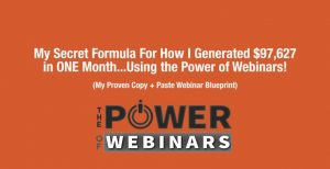 use the power of webinars