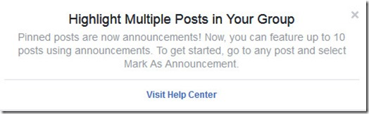 Facebook Group Pinned Posts and Announcements - Likes UP