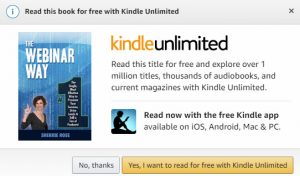 Get the Webinar Way on Kindle Amazon.